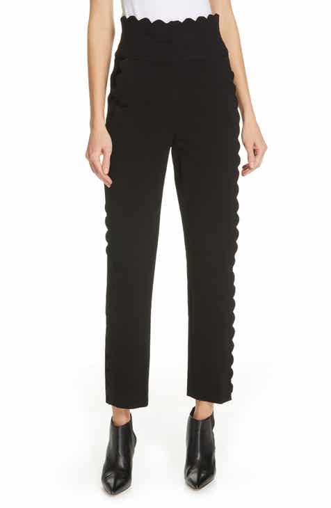 Rebecca Taylor Scallop Detail Cotton Blend Pants by REBECCA TAYLOR
