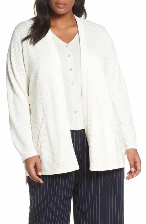 Eileen Fisher Silk   Organic Cotton Cardigan (Plus Size) e0eadf4c3