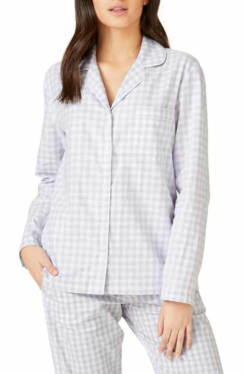 The White Company Cotton Flannel Pajama Top by THE WHITE COMPANY