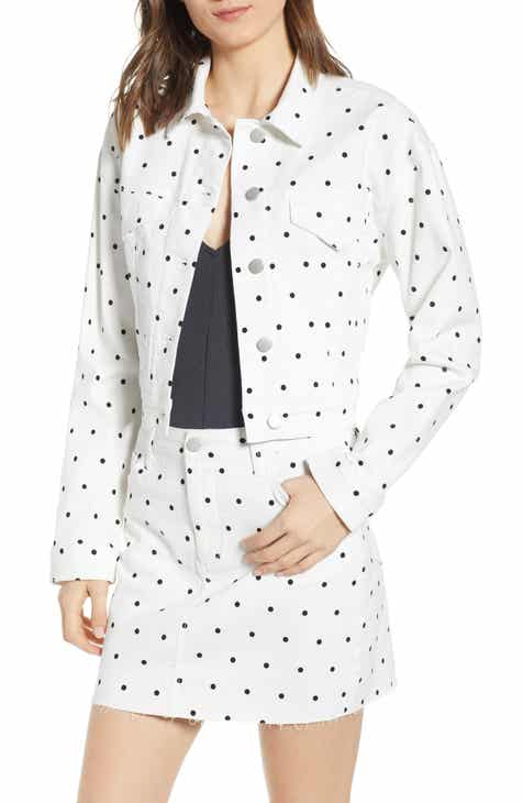 Tinsel Polka Dot Jean Jacket by TINSEL
