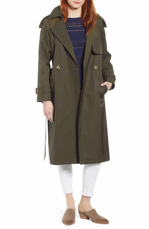 Sam Edelman Water Resistant Long Trench Coat by SAM EDELMAN