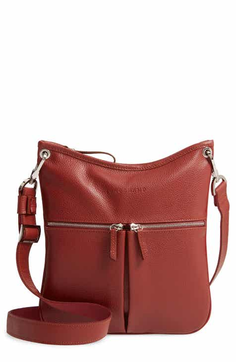 4de494f9b5b Longchamp  Veau  Leather Crossbody Bag