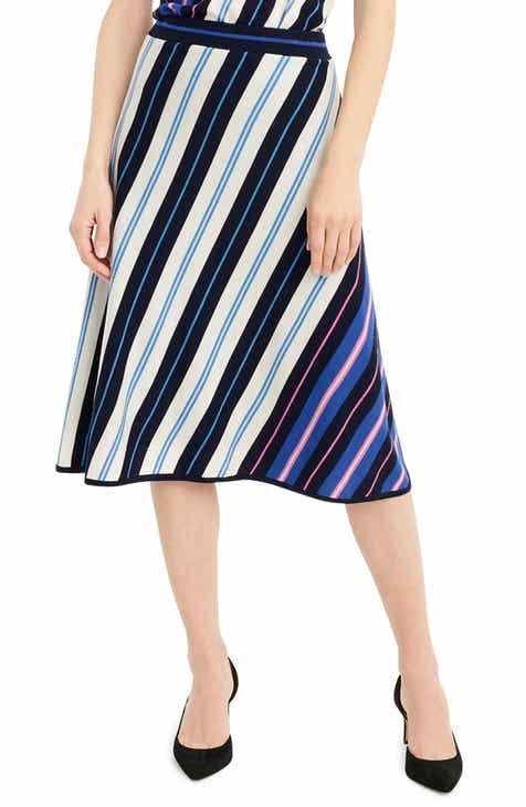 J.Crew Diagonal Stripe Merino Wool A-Line Skirt 34f9b94cc