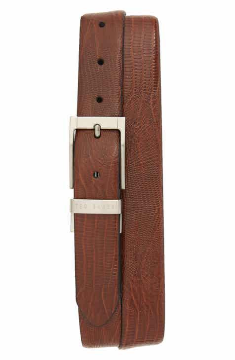 23066d67b Ted Baker London Lizard Embossed Reversible Leather Belt
