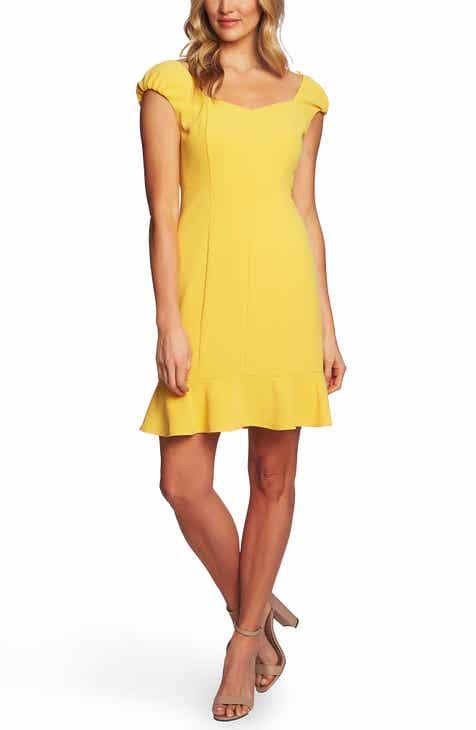 55ba97186a CeCe Moss Crepe Ruffle Hem Sheath Dress