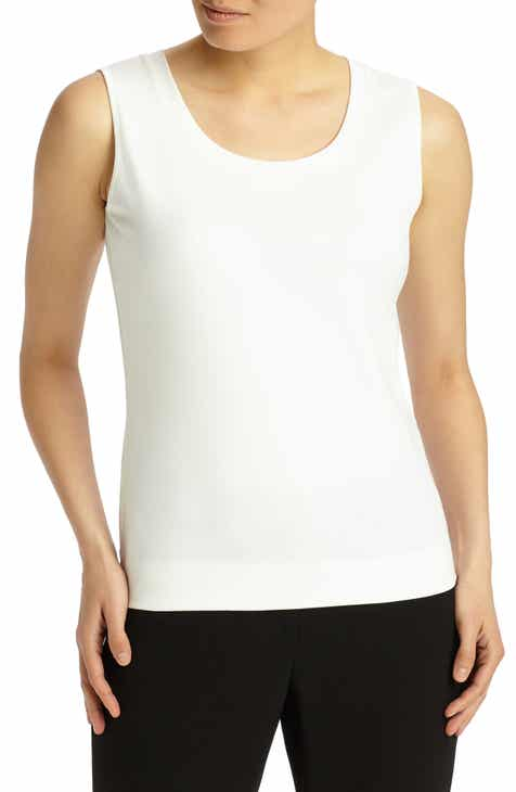 66a36ab145186f Lafayette 148 New York Stretch Swiss Cotton Rib Tank (Online Exclusive)
