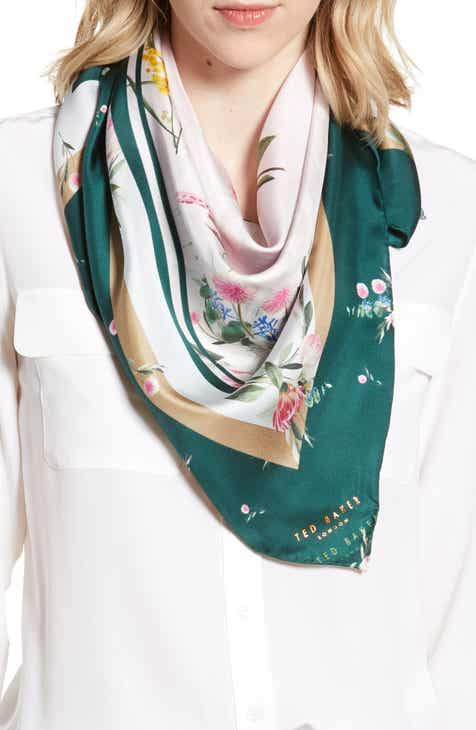 ee13e6a0be3c8a Ted Baker London Flourish Square Silk Scarf