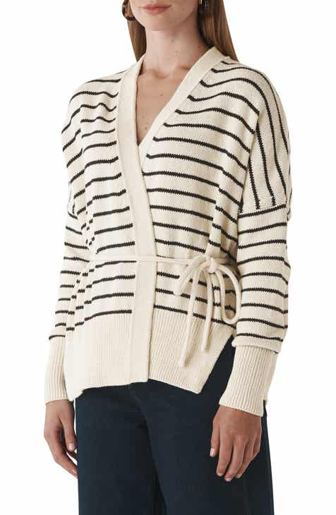 Whistles Stripe Tie Cardigan By WHISTLES by WHISTLES Best Design