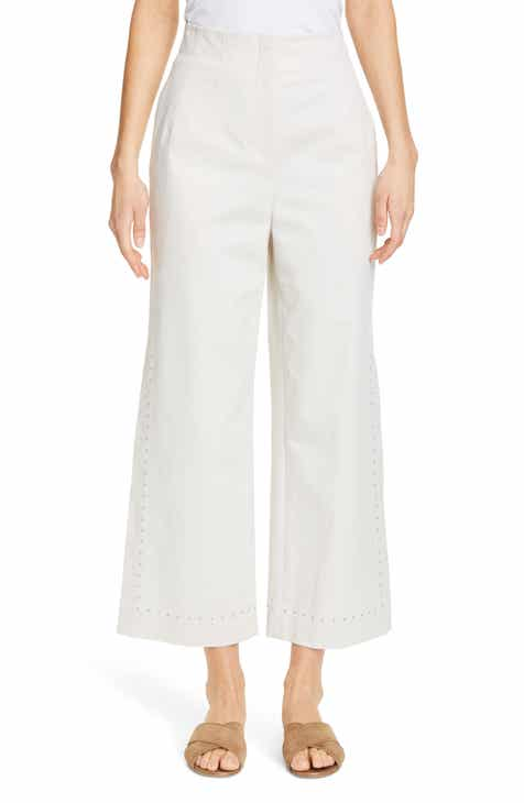 Lafayette 148 New York Downing High Waist Wide Leg Ankle Pants by LAFAYETTE 148