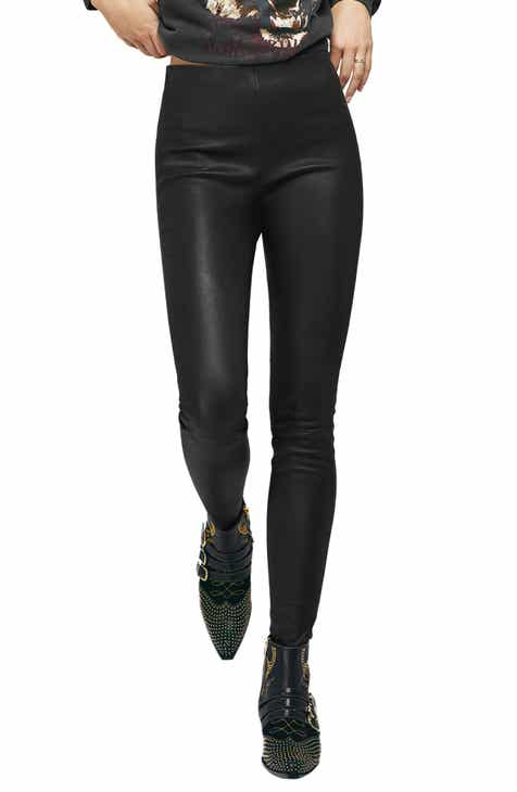 ANINE BING Petra Leather Leggings by ANINE BING