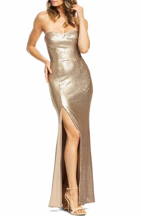 463a6c9bdbf Dress the Population Ellen Strapless Sequin Evening Dress
