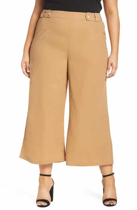 cfa96fce0090 LOST INK Crop Flare Trousers (Plus Size)