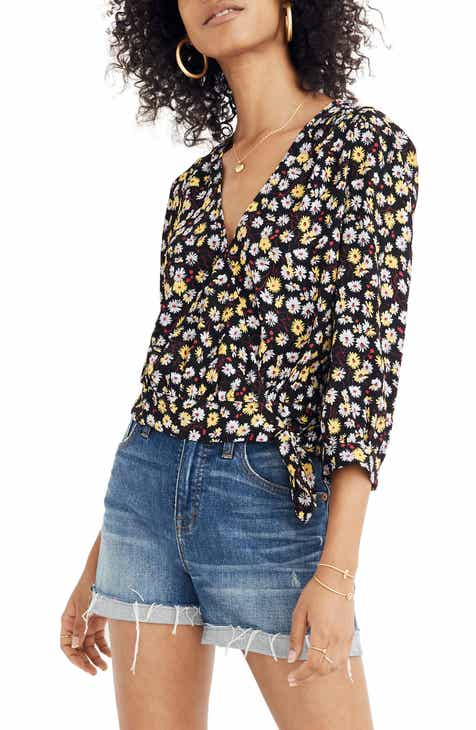 17c7eca6b41 Madewell French Floral Wrap Top