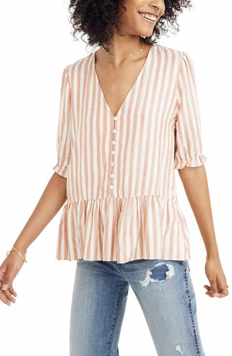 9c656ce1c911c Madewell Courtyard Ruffle Hem Top (Regular   Plus Size)