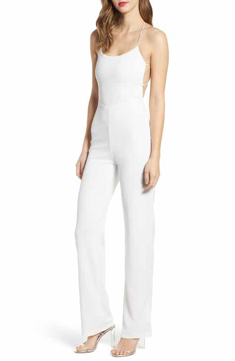 Tiger Mist Blanche Strappy Back Crepe Jumpsuit by TIGER MIST