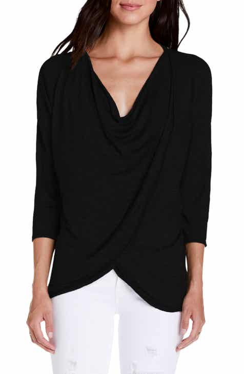128d1ff9151 Michael Stars Kira Cowl Neck Wrap Front Top