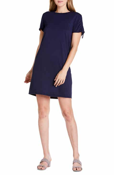 686b6a5316ad Michael Stars Zoie Ruched Sleeve T-Shirt Dress