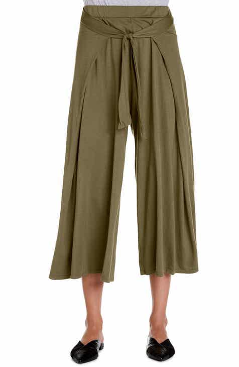 d2efa25d50971 Michael Stars Clarissa Tie Front Wide Leg Crop Culottes