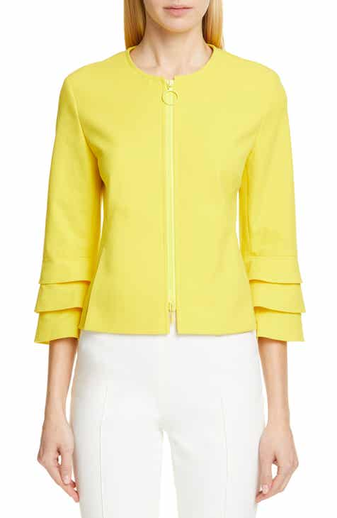 Akris punto Ruffle Sleeve Jacket by AKRIS PUNTO
