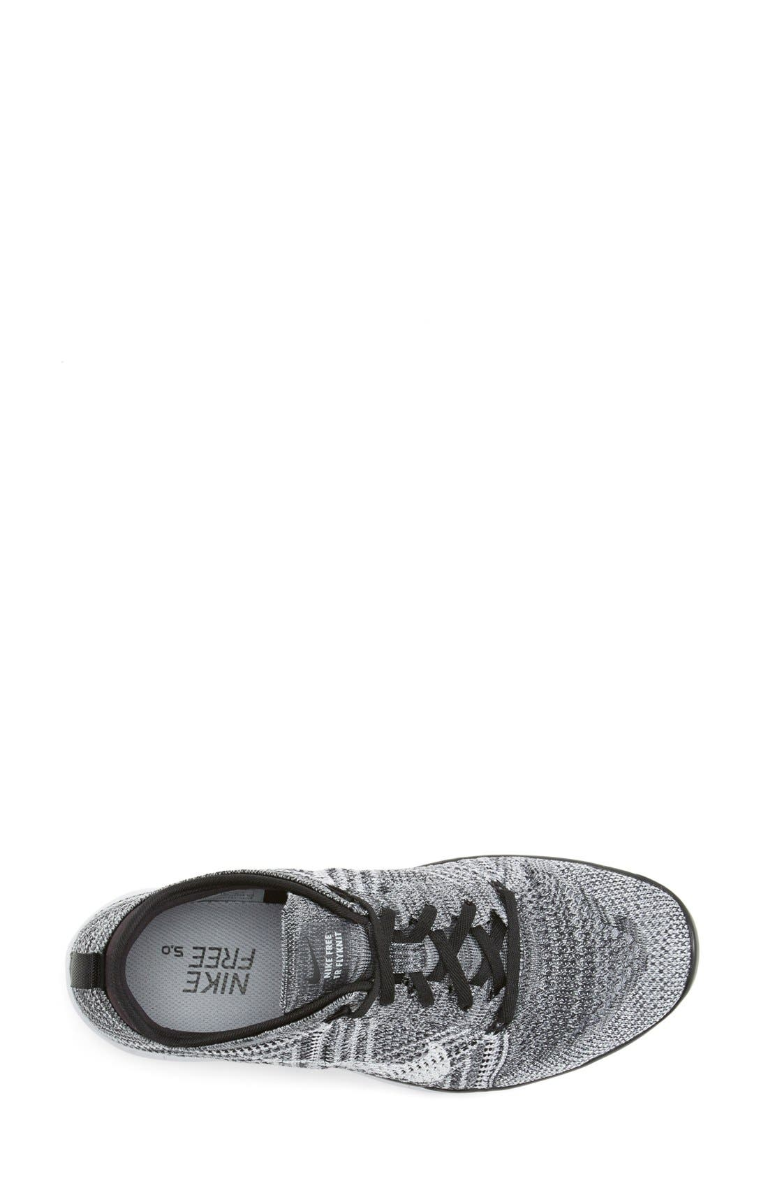 'Free Flyknit 5.0 TR' Training Shoe,                             Alternate thumbnail 3, color,                             Black/ Grey/ White