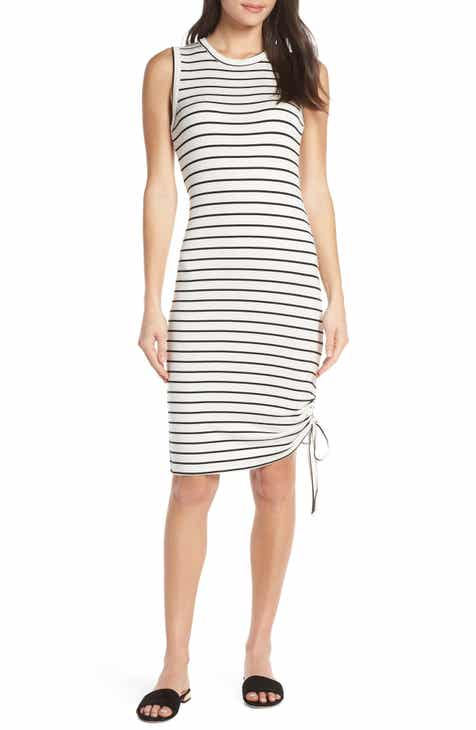 27253eb37c BB Dakota What s the Ruche French Terry Stripe Dress