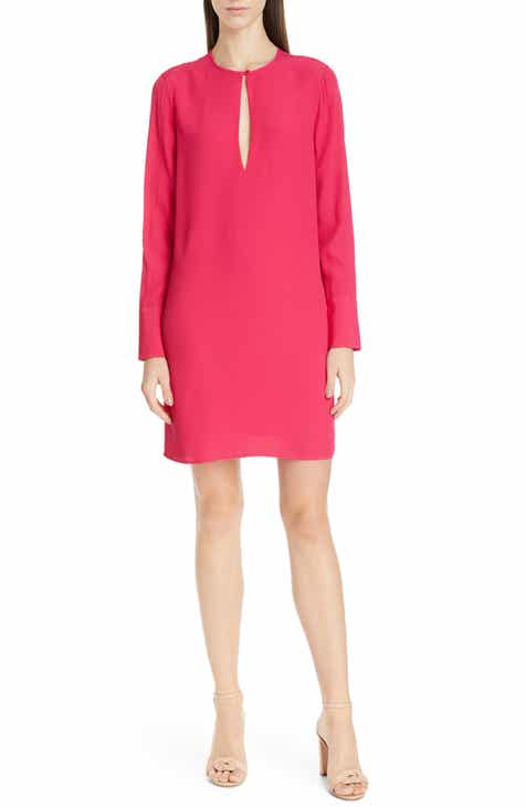 6e0f00d0579 Equipment Bonnie Keyhole Long Sleeve Shift Dress