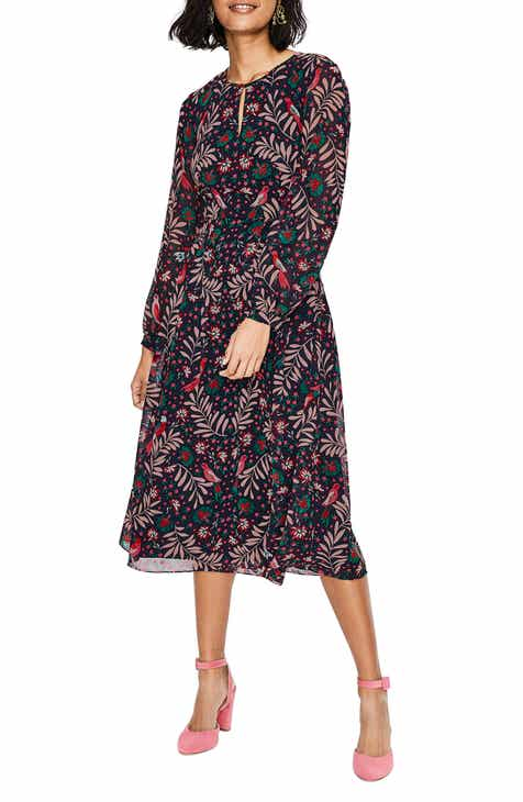 7d035cfd248 Boden Ada Floral Long Sleeve Midi Dress