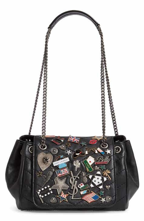 3945605c9e9d Saint Laurent Small Nolita Pin Embellished Leather Shoulder Bag