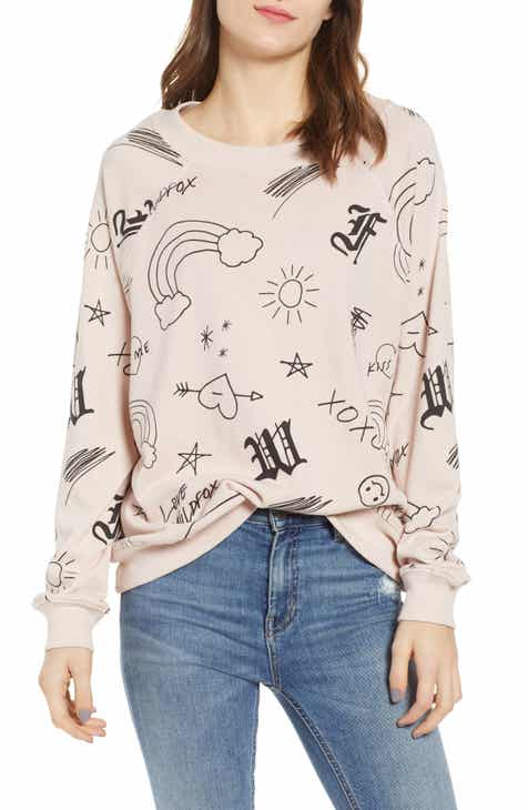 Wildfox Love Scribbles Sommers Sweatshirt by WILDFOX