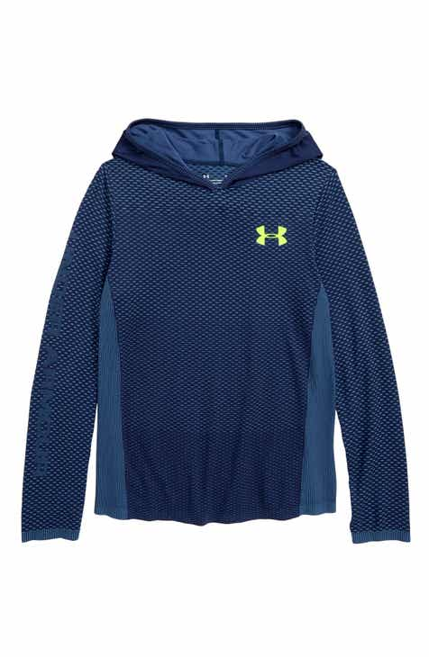 Under Armour Seamless HeatGear® Hoodie (Big Boys) cc51aeea4