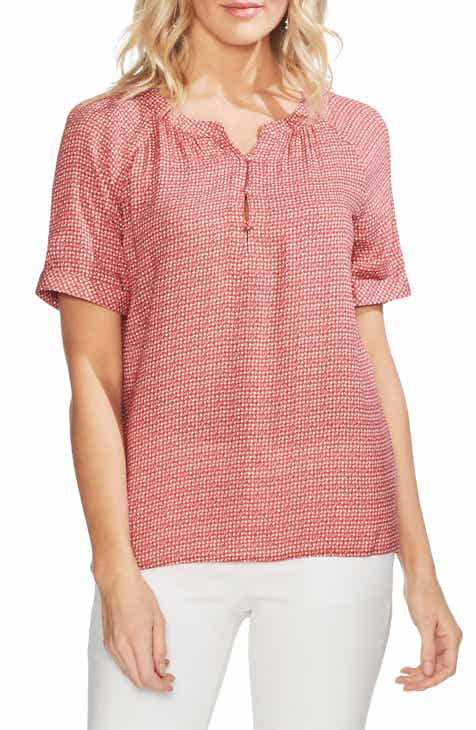 00e191096677f Vince Camuto Diamond Dashes Print Blouse