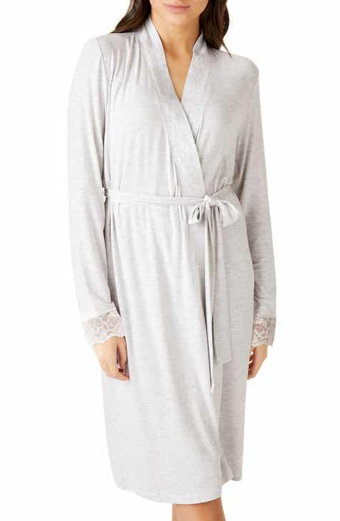 The White Company Lightweight Hooded Velour Robe by THE WHITE COMPANY