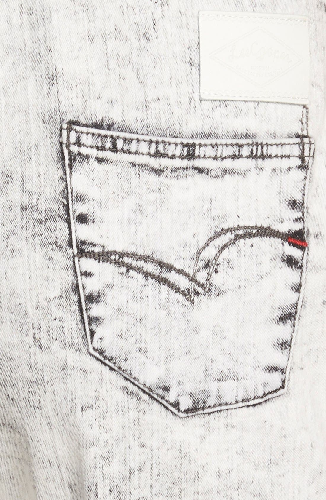 Alternate Image 3  - Lee Cooper Denim Overalls (White)