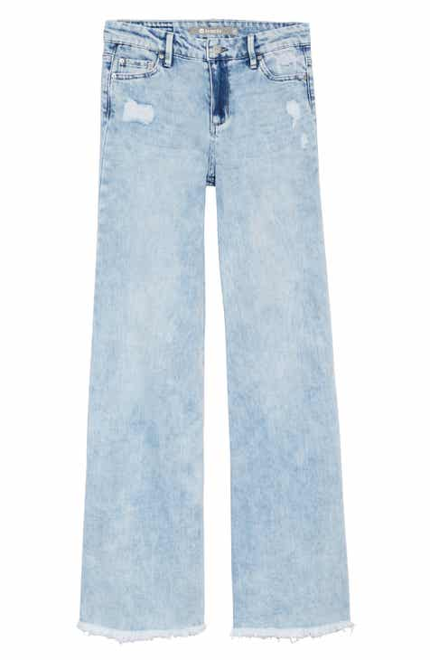 Tractr Golden Year Wide Leg Jeans (Big Girls)