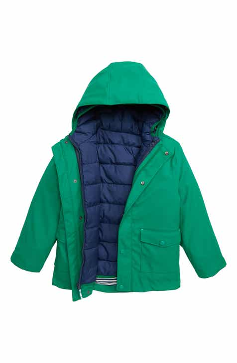 9cfa340dda56 Mini Boden 3-in-1 Waterproof Rain Coat (Toddler Boys