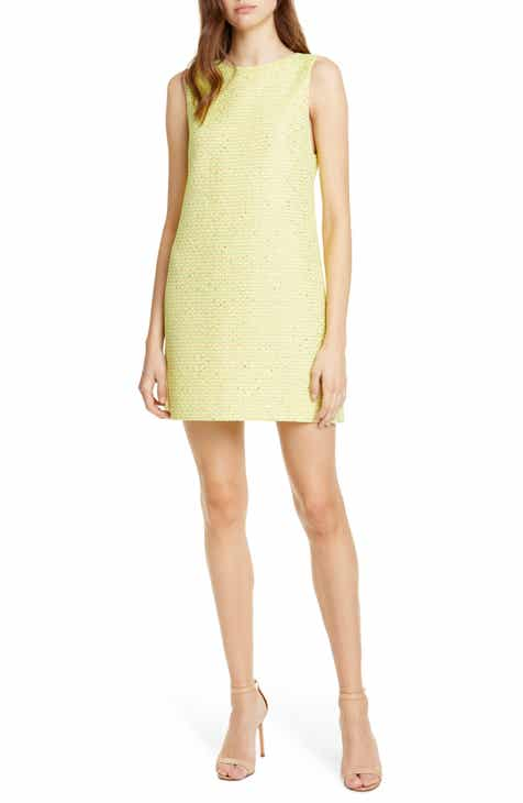 Alice + Olivia Aline Tweed Shift Dress