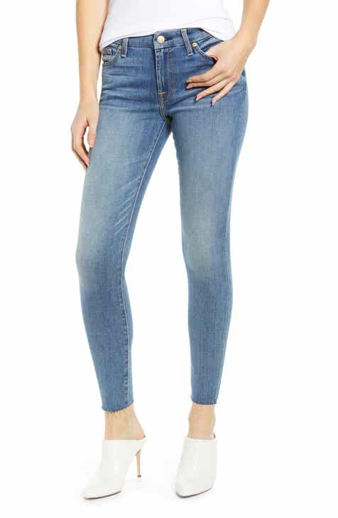 7be3a689 7 For All Mankind® Raw Hem Ankle Skinny Jeans (Pretty Medium Vintage)