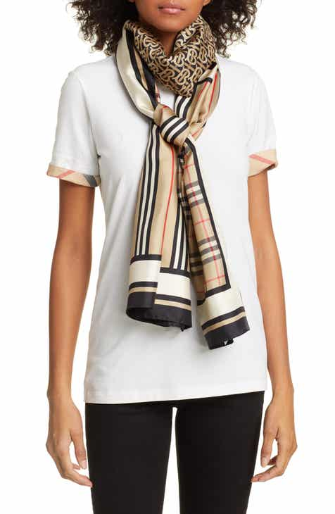4e2992e20 Burberry Mixed Print Mulberry Silk Scarf