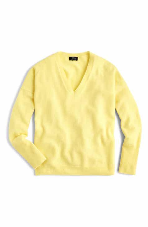 920e613741cfd J.Crew V-Neck Boyfriend Cashmere Sweater