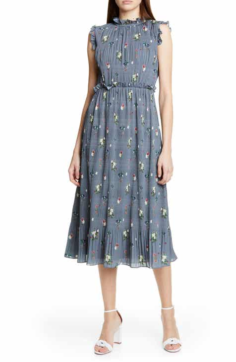 24fa93a3ff95fb Ted Baker London Toppaz Oracle Plissé Dress
