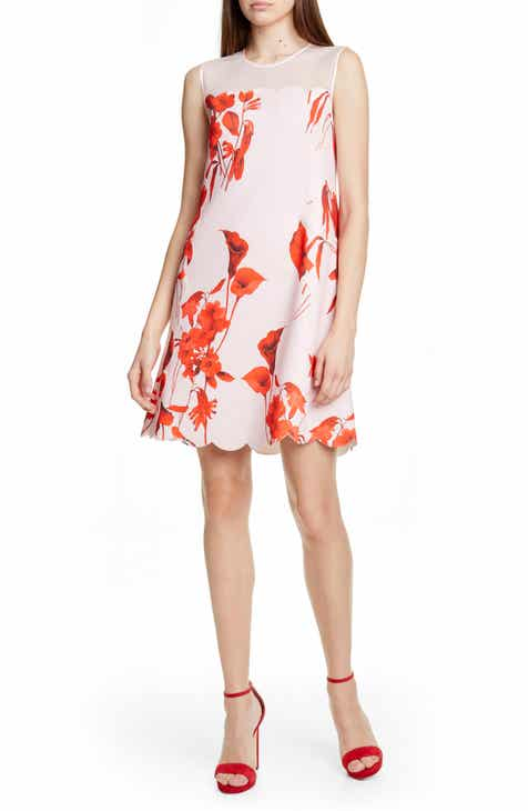 1.STATE Sunwashed Floral Print High/Low Dress by 1.STATE