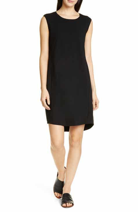 c4effd4ef90211 Eileen Fisher Scoop Neck Sleeveless Dress (Regular   Petite)