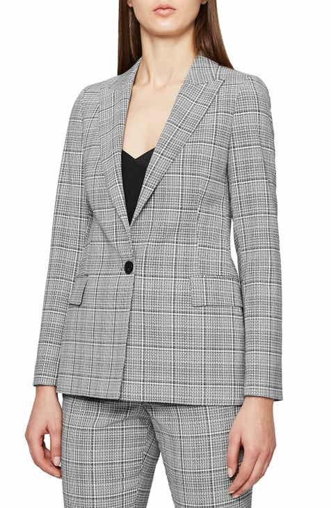 Reiss Alenna Windowpane Plaid Suit Jacket by REISS