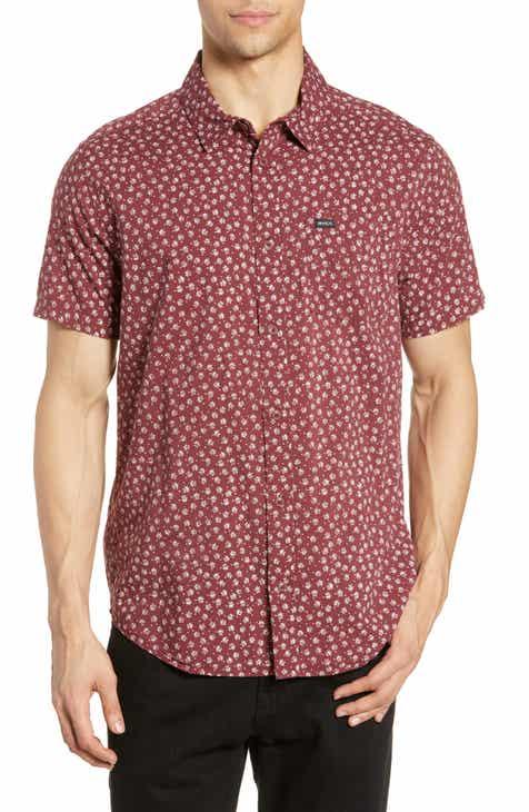 bc454c6a5646 RVCA Ficus Floral Print Slim Fit Shirt
