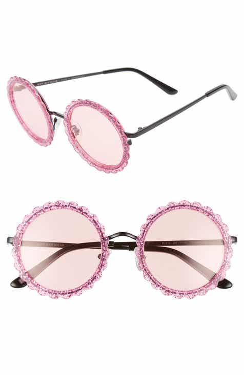 b0980b781e1ca DIFF Dixie 47mm Round Sunglasses.  85.00. Product Image. PINK ...