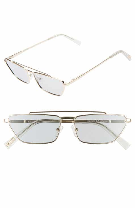 fe38fecc2ea32 Le Specs Electricool 57mm Polarized Cat Eye Aviator Sunglasses