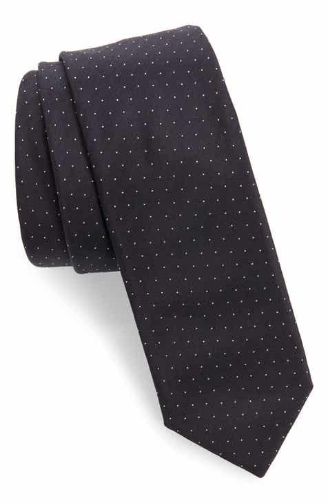 a1821cade50d BOSS Dot Silk Skinny Tie