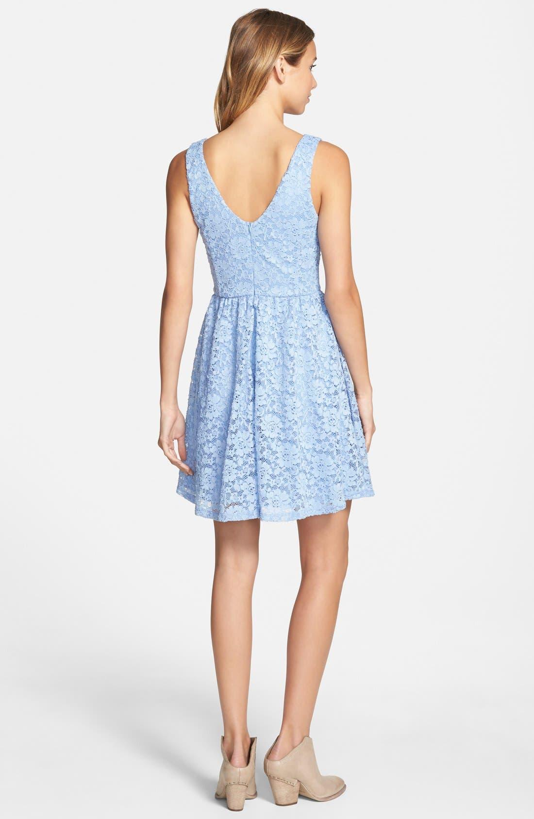 Alternate Image 2  - Lush Lace Skater Dress