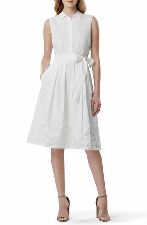 dc4c4caed3a2 Tahari Lace Detail Cotton Voile Dress (Regular & Petite)