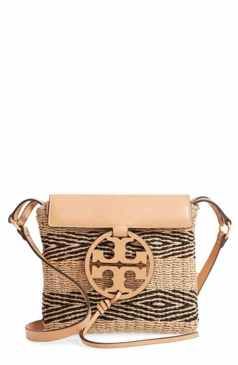 393031073a Tory Burch Miller Stripe Straw Crossbody Bag